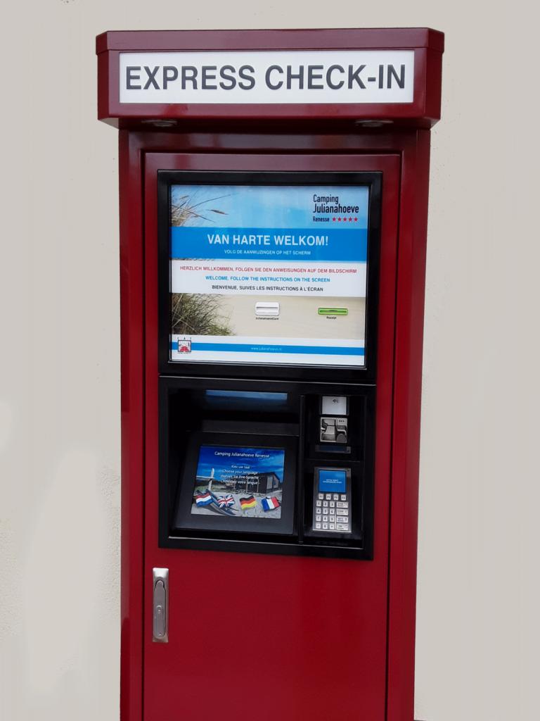 Check_in kiosk, self-service voor campings